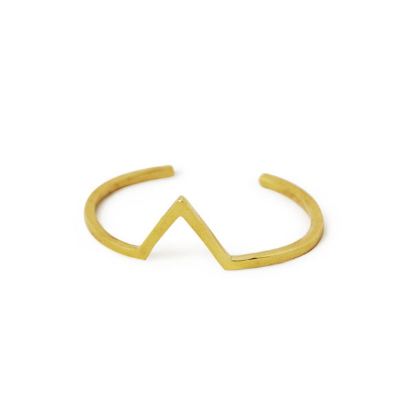 Half Pass Bangle Cuff (V shape)