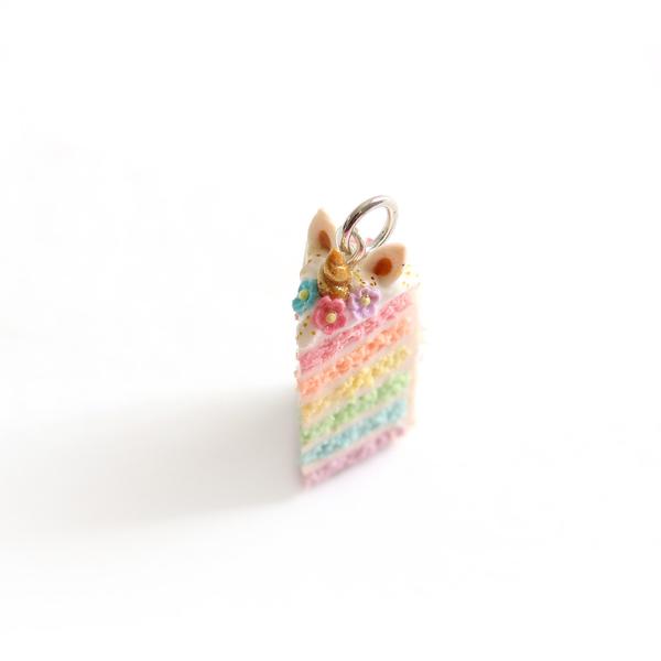 Unicorn Rainbow Cake Charm/ Necklace