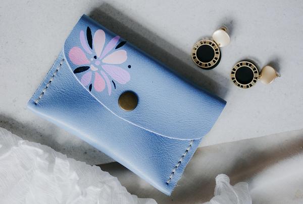 Mini purse - sky abstract