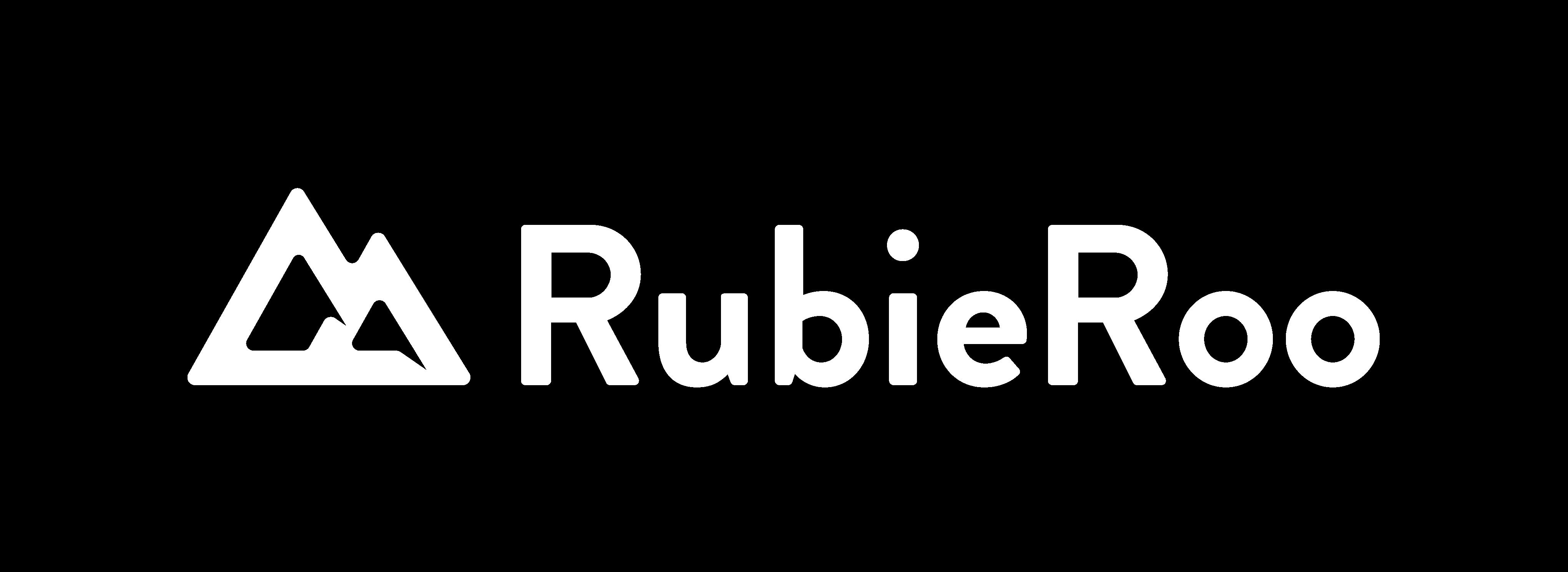 Rubieroo white logo