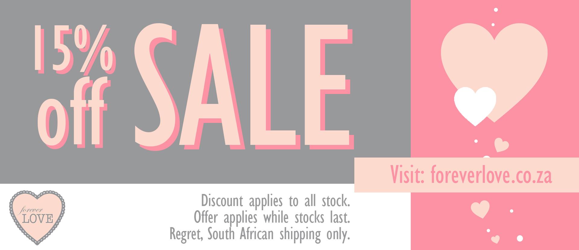 Forever love sale web banner